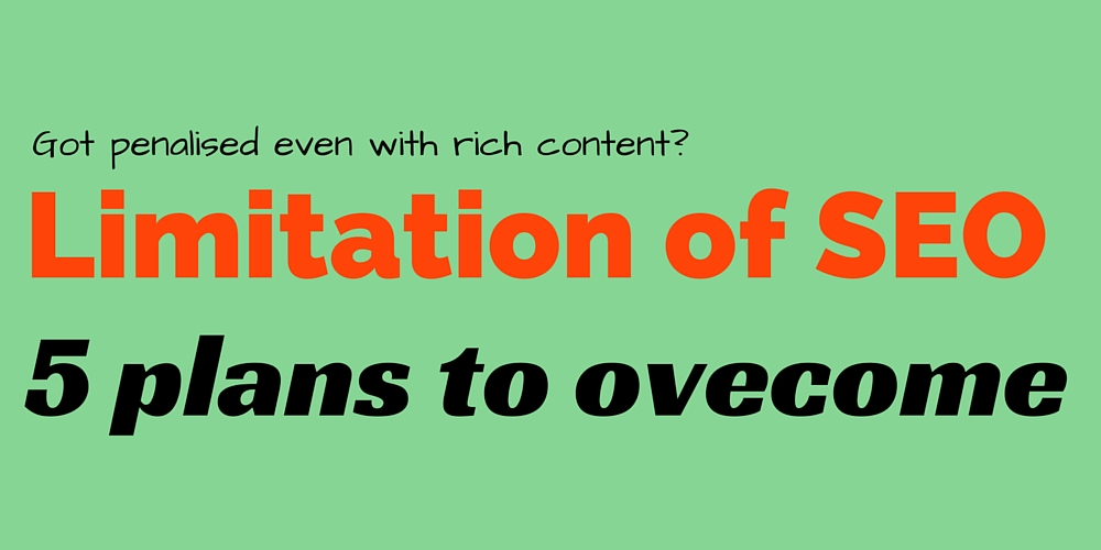 SEO Limitations that penalise rich content website