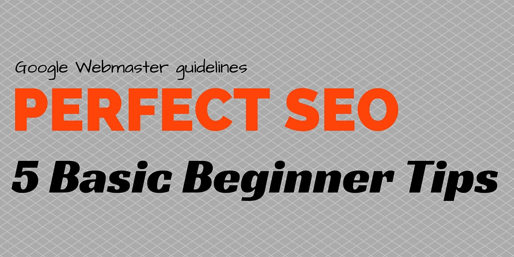 Perfect SEO for beginners