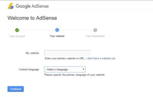 Google Adsense Application