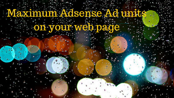 maximum adsense unit