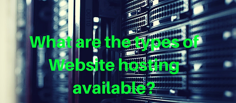 What are the website hosting types and methods ?